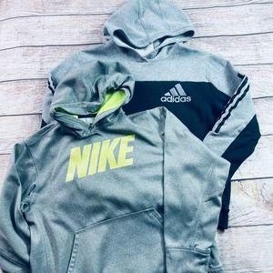 Boys size L 14/16 Adidas & Nike Hoodies
